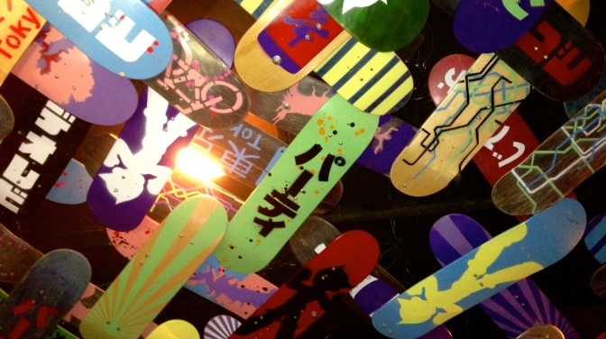 PaperPlanes Skateboard Ceiling