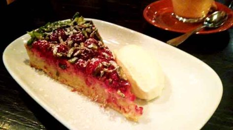 Raspberry and Pistachio Tart