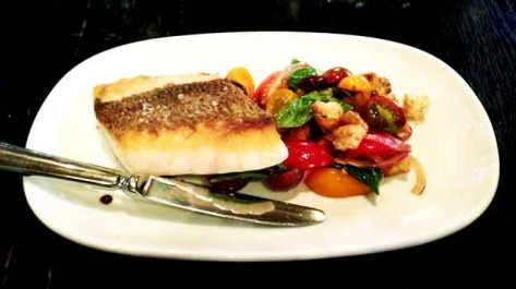 Snapper with Tomato Panzanella