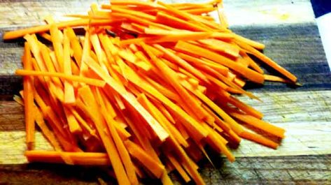 Julienned Carrots