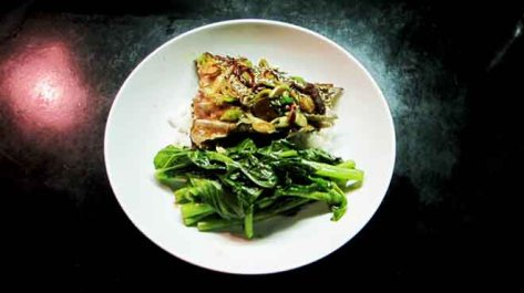 Barramundi with Ginger, Chilli & Shallots