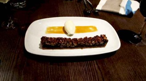 Pecan Tart with Burnt Bourbon and Vanilla Chantilly