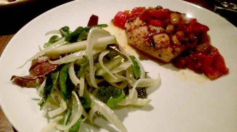Blackened Tuna with Apple, Fennel and Watercress Salad