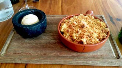 Apple Crumble with Cinnamon Ice Cream