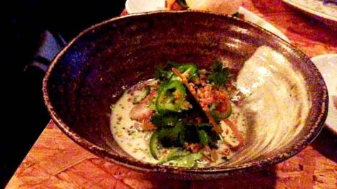 Kingfish with Buttermilk and Jalapeno