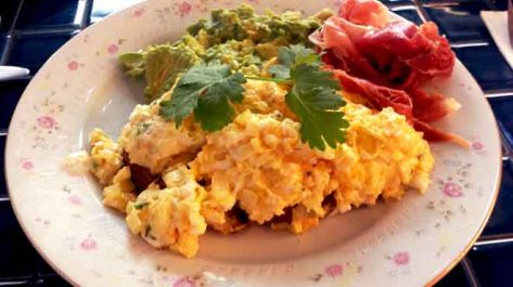 Reuben Hills Scrambled with Jamon & Avocado