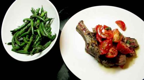 Tagliata for Two with Beans
