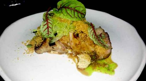 Glazed Pork Neck with Savoy Cabbage and Mustard Seeds