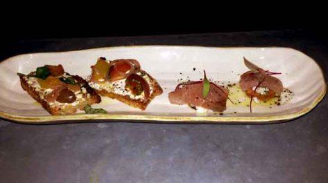 Heirloom Tomato Crudites, Kingfish Crudo
