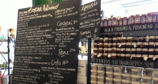 Cafe Sopra Menu Board