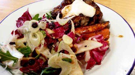 Zataar Chicken with Pear, Radicchio & Walnut