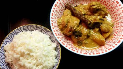 Nonya Chicken Curry with Rice