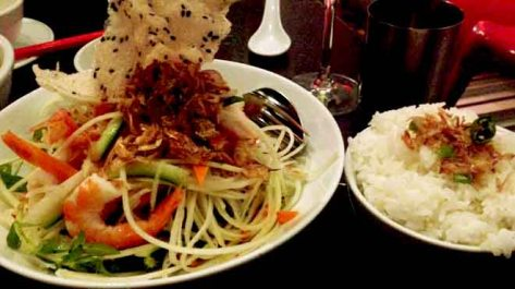 Prawn and Papaya Salad