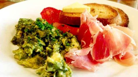 Green Eggs & Prosciutto