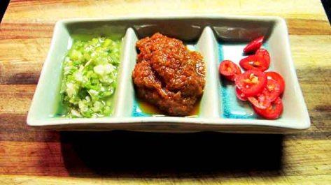 Ginger & Shallot, Sambal Oelek, Fresh Chilli