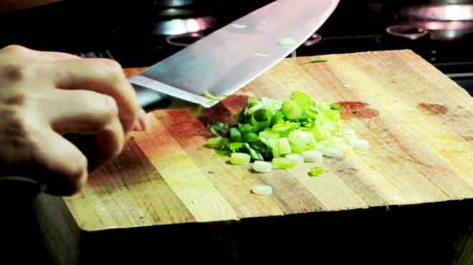 Finely chop shallots and garlic