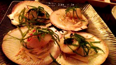 Steamed Scallops in the Half Shell