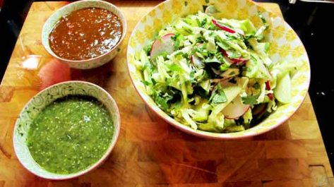 Apple Slaw and Salsas