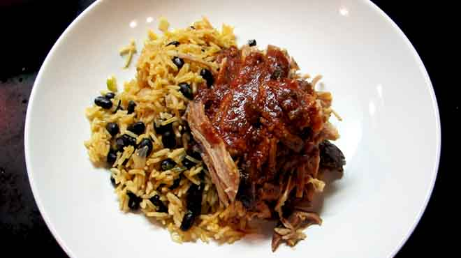 Pulled Pork with Mexican Rice