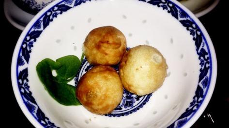 Canon Shot Dumpling (roast pork, shiitake, yambean)