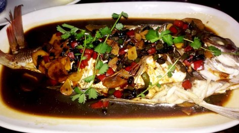 Whole Fish (Black bean, chilli sauce)