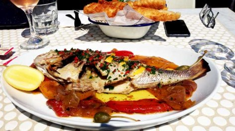Watsons Bay Snapper with Pepperonata & Caperberries