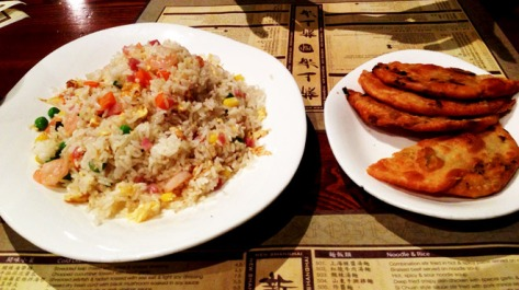 Fried Rice & Shallot Pancake