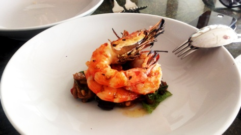 Chargrilled Prawns with Eggplant