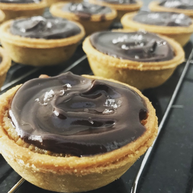Salted Chocolate Caramel Tarts